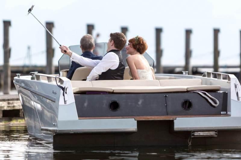 Bootsfahrt des Hochzeitspares