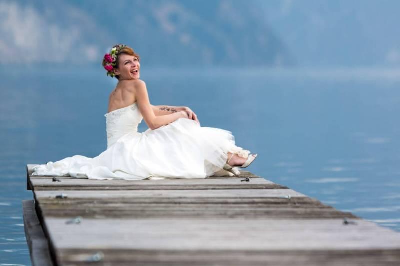 Braut am Traunsee