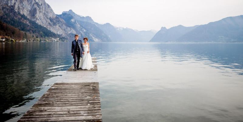 Hochzeitsshooting vom Traunsee