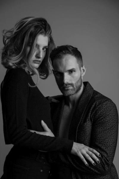 Frau-und-Mann-Fashion-Blick