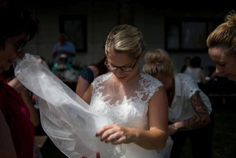 Brautschleier im Fokus
